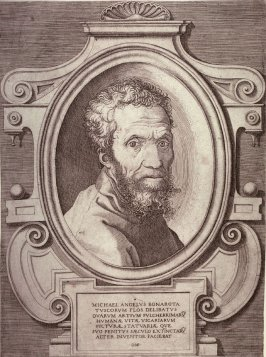 Portrait of Michelangelo, after a copy by Marcello Venusti of a painting by Jacopino del Conte