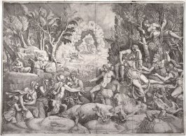 The Death of Procris, after a drawing by Giulio Romano