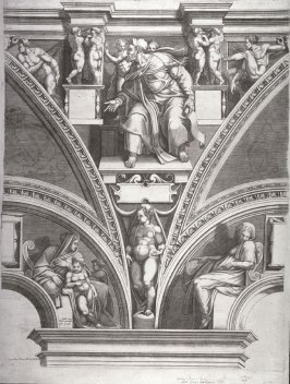 The Prophet Ezekiel, from a series of six prints after Michelangelo's Sistine Chapel ceiling