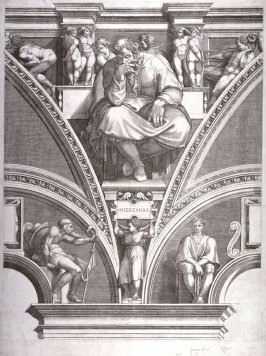 The Prophet Jeremiah, from a series of six prints after Michelangelo's Sistine Chapel ceiling