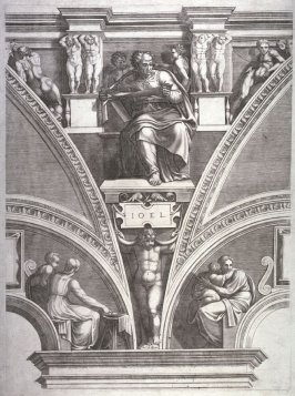 The Prophet Joel, from a series of six prints after Michelangelo's Sistine Chapel ceiling