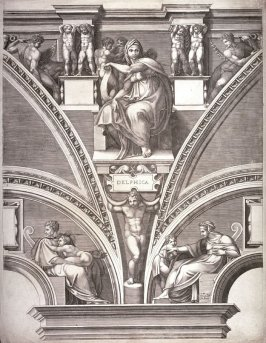The Delphic Sibyl, from a series of six prints after Michelangelo's Sistine Chapel ceiling