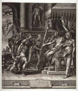 The Calumny of Apelles, after Luca Penni