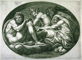 Hercules, Bacchus, Pan and Another God