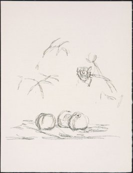 """""""Fleurs"""" by Alberto Giacometti, pg. 187, in the book Souvenirs et portraits d'artistes (Reminiscences and Portraits of Artists) by Fernand Mourlot (Paris: Alain c. Mazo, 1972 and in New York: Léon Amiel, 1972)."""