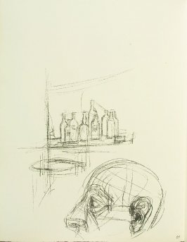 Untitled, illustration 25, in the book Paris sans fin by Alberto Giacometti (Paris: Tériade Éditeur, 1969).