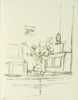 Untitled, illustration 26, in the book Paris sans fin by Alberto Giacometti (Paris: Tériade Éditeur, 1969).