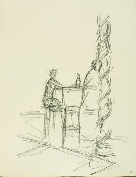 Untitled, illustration 55, in the book Paris sans fin by Alberto Giacometti (Paris: Tériade Éditeur, 1969).