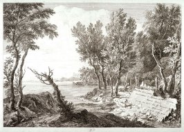 Frontispiece to the series Racolta di 12 paesi...dal Marco Ricci (Collection of Twelve Landscapes...by Marco Ricci)
