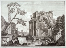 Plate 2 from the series Racolta di 12 paesi...dal Marco Ricci (Collection of Twelve Landscapes...by Marco Ricci)
