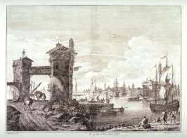 Plate 5 from the series Racolta di 12 paesi...dal Marco Ricci (Collection of Twelve Landscapes...by Marco Ricci)