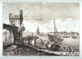 Plate 7 from the series Racolta di 12 paesi...dal Marco Ricci (Collection of Twelve Landscapes...by Marco Ricci)