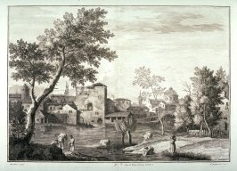 Plate 8 from the series Racolta di 12 paesi...dal Marco Ricci (Collection of Twelve Landscapes...by Marco Ricci)