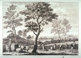 Plate 10 from the series Racolta di 12 paesi...dal Marco Ricci (Collection of Twelve Landscapes...by Marco Ricci)