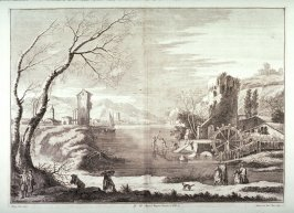 Plate 11 from the series Racolta di 12 paesi...dal Marco Ricci (Collection of Twelve Landscapes...by Marco Ricci)