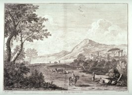 Plate 12 from the series Racolta di 12 paesi...dal Marco Ricci (Collection of Twelve Landscapes...by Marco Ricci)