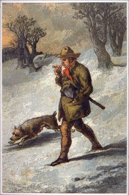 The Woodman and his dog.