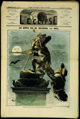 Le rêve de M. Rouher (Mr. Rouher's Dream), cover of L'Eclipse