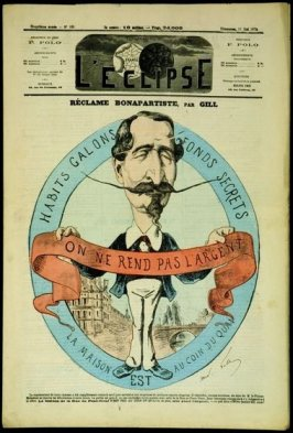 Réclame Bonapartiste (Bonapartist Propaganda), cover of L'Eclipse