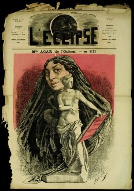 Mlle Agar (de l'Odéon) (Miss Agar of the Odéon), cover of L'Eclipse
