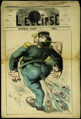 Nouveau Paon (New Peacock), cover of L'Eclipse