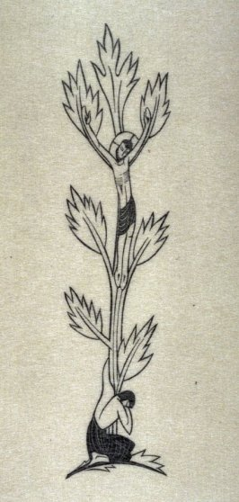 Border: Our Lord on Tree, pl. 96: G. 181: