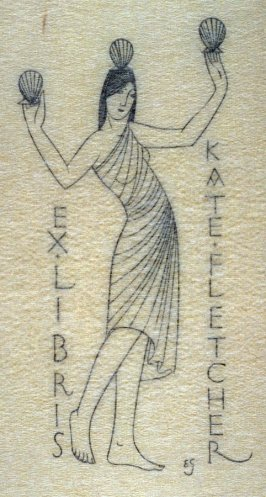 Bookplate: Girl with Three Scallops, pl.102: G. 209: