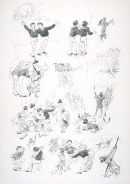 [cartoon about two sailors in China], from Le Chat Noir