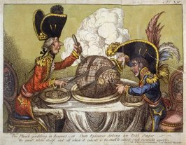 The Plumb-pudding in Danger - or State Epicures taking un Petit Souper