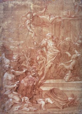 Mercury urges Aeneas to depart from Carthage