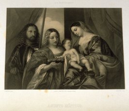 Ofrenda De Santa Brigida A Jesus Ni`no .(Mary offers the infant Jesus to St. Bridgit)...fourth plate in the book...El Real Museo de Madrid y las joyas de la pintura en Espana ([Madrid]: Juan José Martinez, [1857])
