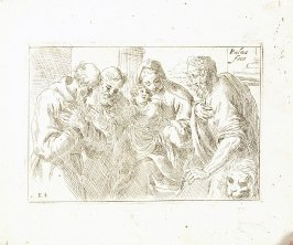 Madonna and Child with St. Jerome and St. Francis from In vero modo et ordine per dissegnar tutte le parti et membra del corpo humano (Venice: Bassano, [printed after 1709])
