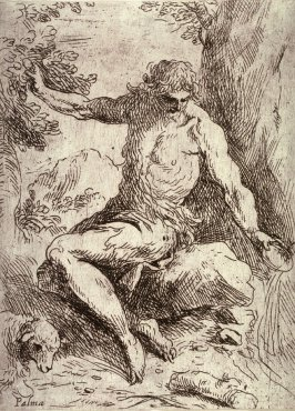 St. John the Baptist in the Wilderness, from the series Principles of Drawing