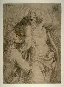 The Doubting Thomas (Incredulity of St. Thomas), from the series De excellentia et nobilitate delineationis libri duo (Principles of Drawing)