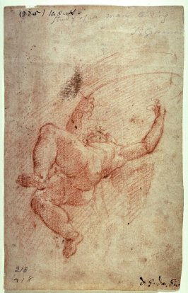 Recto:Putto Holding Banner