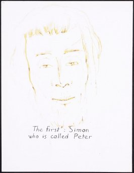 The first: Simon who is called Peter, numbered page 84 and fourth page of the twenty-first folio in the unbound book Sayings of Jesus (Milwaukee: Chirho Press, Marquette University, 1956)