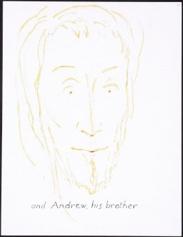 and Andrew, his brother , numbered page 85 and first page of the twenty-scond folio in the unbound book Sayings of Jesus (Milwaukee: Chirho Press, Marquette University, 1956)