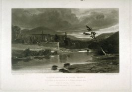 Bolton Abbey on the River Wharfe, plate 14 from The Rivers of England