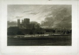 York Minster on the River Foss, plate 7 from The Rivers of England