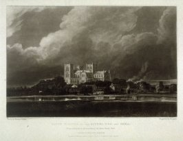 Ripon Minster on the Rivers Ure and Skell, plate 12 from The Rivers of England