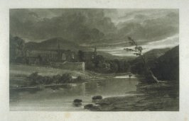 Plate 14: Bolton Abbey on the River Wharfe, from the series 'The Rivers of England'