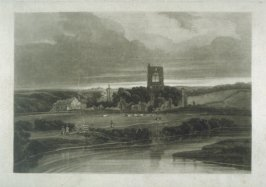 Plate 9: Kirkstall Abbey on the River Aire, from the series 'The Rivers of England'