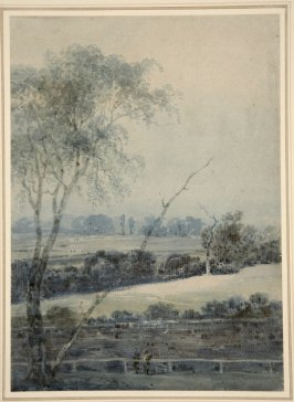Untitled (Landscape with Figures by a Railing)
