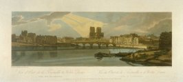 View of Pont Vont de la Tournelle et Notre Dame, taken from the Arsenal, from 'A Selection of Twenty of the most Picturesque Views in Paris, and its environs, drawn and etched in the year 1802, by the late Thomas Girtin'