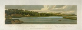 View of St. Cloud and Mount Cavalry, taken from Pont de Seve, from 'A Selection of Twenty of the most Picturesque Views in Paris, and its environs, drawn and etched in the year 1802, by the late Thomas Girtin'