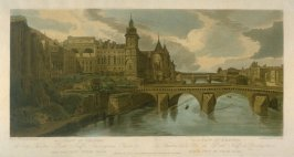 View of Pont au Change, taken from the Pont de Notre Dame, from 'A Selection of Twenty of the most Picturesque Views in Paris, and its environs, drawn and etched in the year 1802, by the late Thomas Girtin'