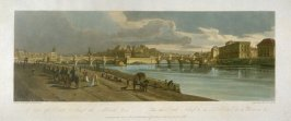 View of Point Neuf, part of Louvre, Notre Dame and the College of Four Nations, from 'A Selection of Twenty of the most Picturesque Views in Paris, and its environs, drawn and etched in the year 1802, by the late Thomas Girtin'