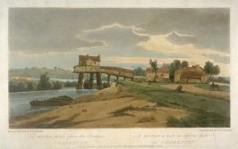 The Water Mill above the Bridge at Charenton, illustration from the series 'A Selection of Twenty of the most Picturesque Views in Paris, and its environs, drawn and etched in the year 1802, by the late Thomas Girtin'