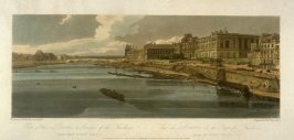 View of the Louvre and Bridge of the Tuileries from Pont Neuf, from 'A Selection of Twenty of the most Picturesque Views in Paris, and its environs, drawn and etched in the year 1802, by the late Thomas Girtin'