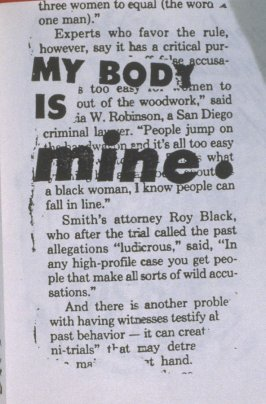 My Body is Mine in the book, Untitled ( i felt your eyes, etc.)([no publisher]:1992)